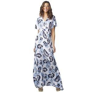 Rachel Pally Floating Feather Knit Maxi Dress